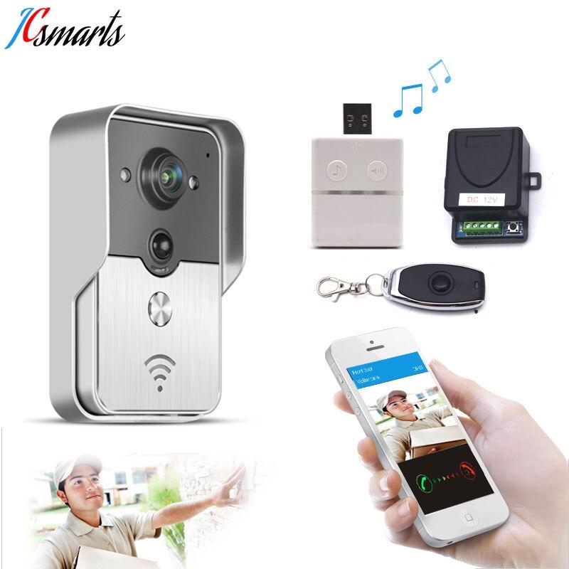 IP vidéo interphone sans fil vidéo porte cloche téléphone WIFI sonnette caméra pour appartements IR alarme sans fil caméra de sécurité