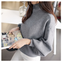 Simplee V neck pearl women knitted sweater winter Casual long sleeve pullover Elegant