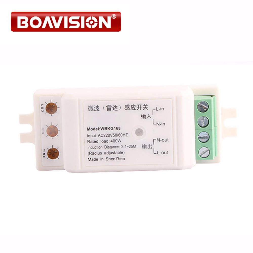 Auto adjustable 220V/AC-240V/AC Microwave Sensor Light Switch,Auto Induction Microwave/radar Motion Sensor 360 degree induction цена