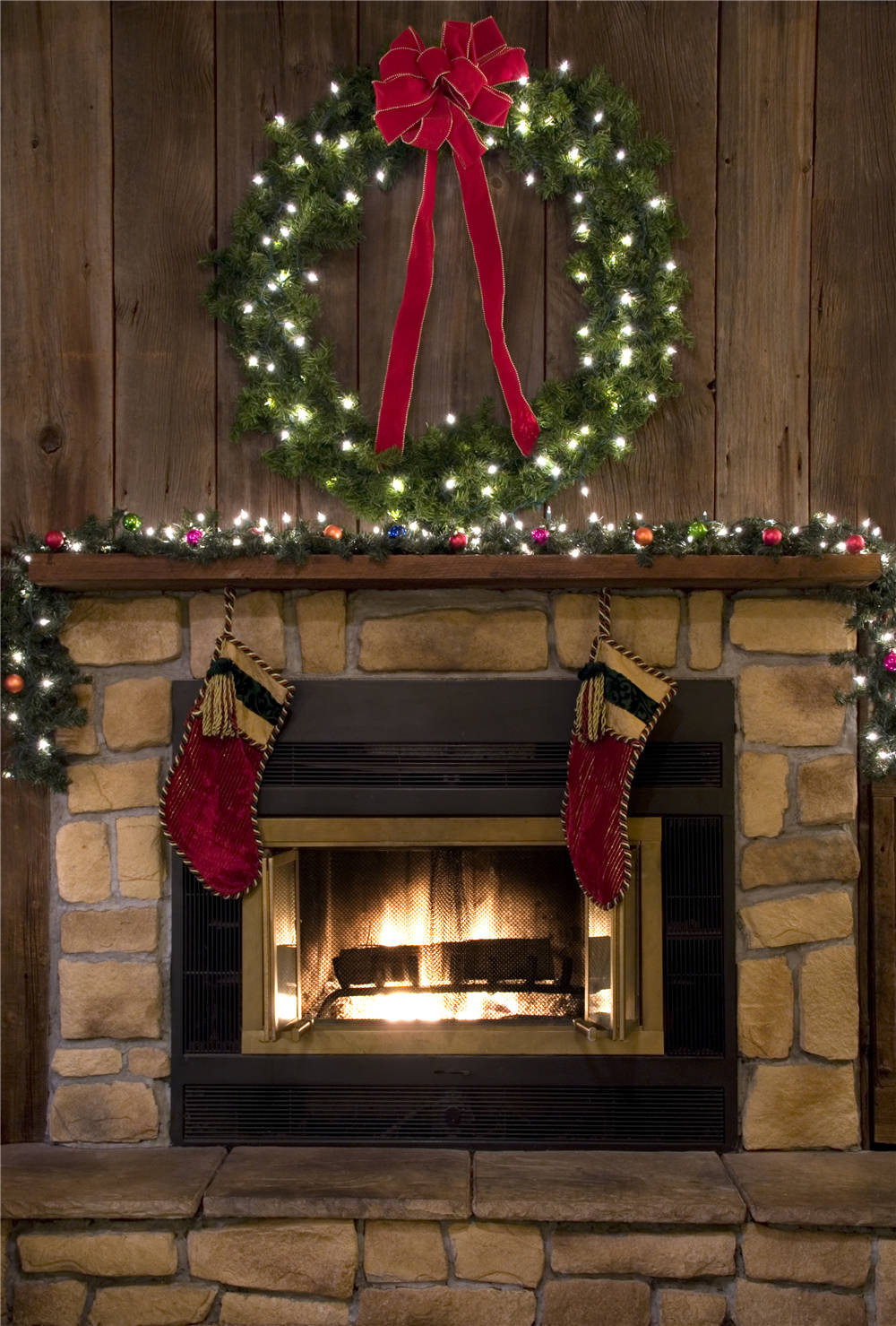 KIDNIU Vinyl Fireplace Photography Backdrops Christmas Socks Photo Studio Background Children 5x7ft or 3x5ft christmas050 fashion rustic iron bedroom bedside wall light fixture home deco living room e27 wall lamp european vintage glass wall sconces