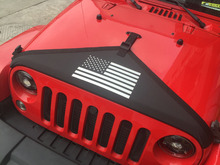 Chuang Qian Black Front Hood Cover Flag Style Hood Protective Bra Cover Kit For Jeep Wrangler JK 2007-2018 цены