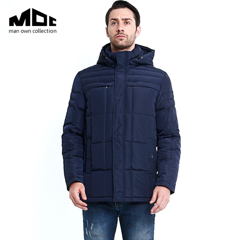 2016 New MOC Brand Mens Winter Warm Downs Jacket Thick Men Down Parka Coat Black Outerdoor Fashion Hooded Outwear Bread Coat 2016 new fashion men winter down jacket men parka coat thick warm cotton padded jacket mens winter coat jacket parka men 98