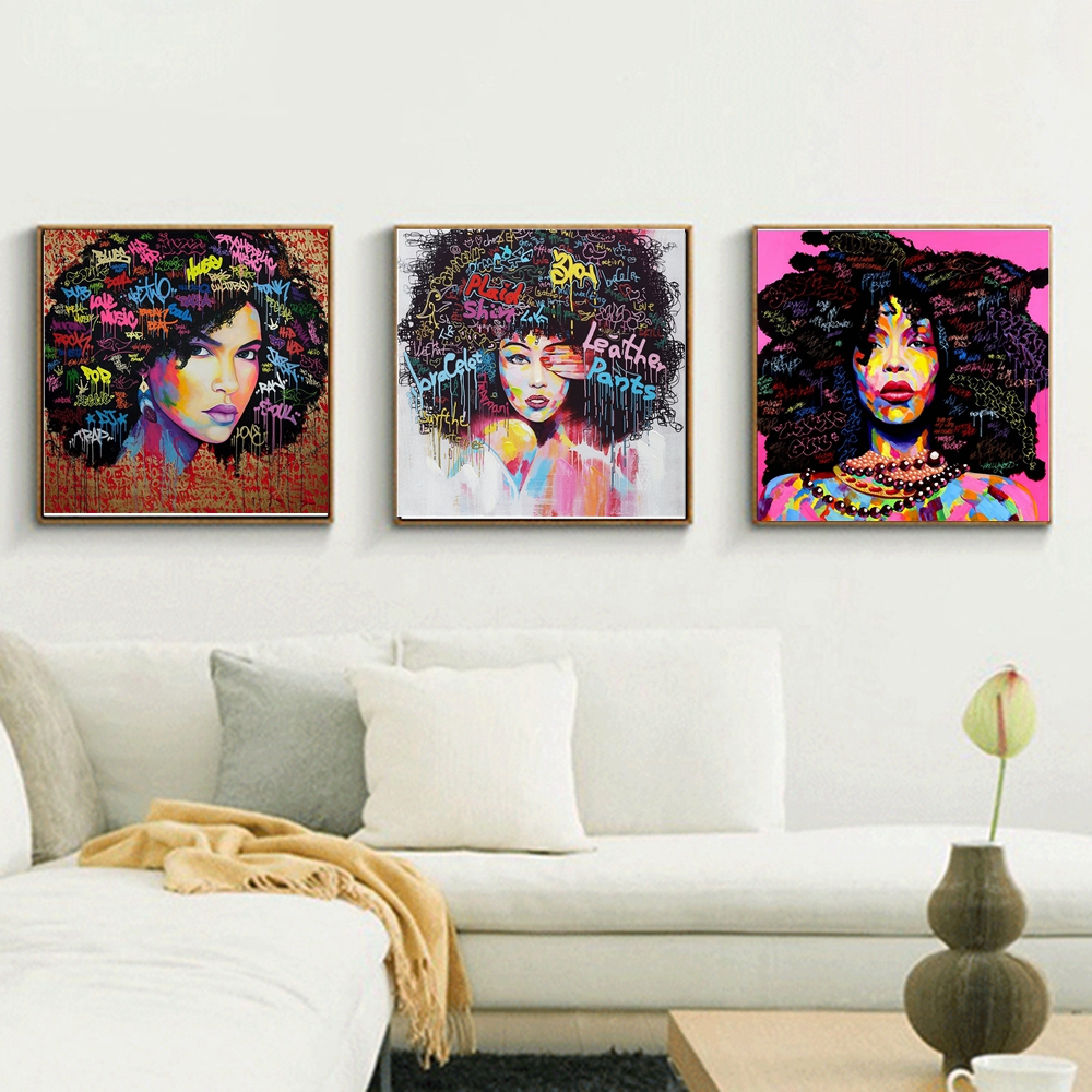 African Girl Printed Canvas Wall Painting 41