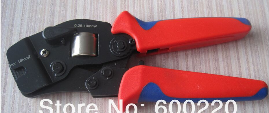AWG24-10 Cable End-sleeves Crimping Plier   C-0816  Self Adjusting Ratcheting Ferrule crimper0.25-16mm2 awg24 10 cable end sleeves crimping plier c 0816 self adjusting ratcheting ferrule crimper0 25 16mm2