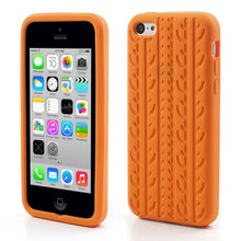 Tire Tread Flexible Silicone Case for iPhone 5C