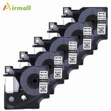 Здесь можно купить   5 pack 1805430 Compatible DYMO Industrial Rhino Label Makers Black on White IND Vinyl Labels Permanent Vinyl (24mm x 5.5m) Office Electronics