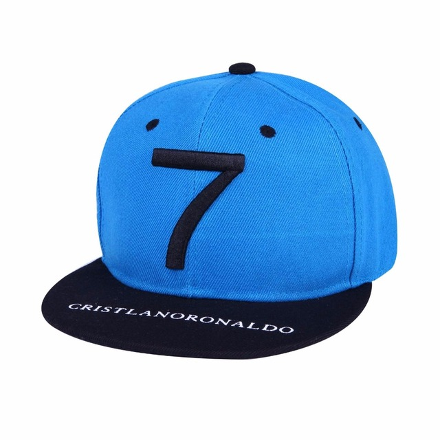2016 bone Cristiano Ronaldo CR7 Black Blue Parent kids Baseball Caps hip hop Sports Snapback Football hat chapeu de sol swag