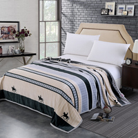 Black grey white stripe new fashion blanket 3D horse Men's spring autumn bedspread twin full queen king size throw blanket