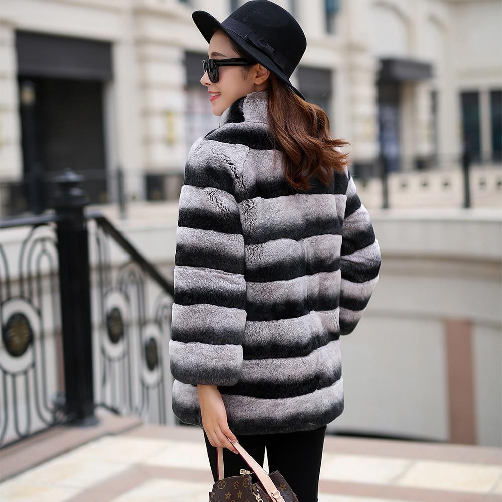 Veste Fourrure Réel Color Peau Manteau L'ensemble Hiver