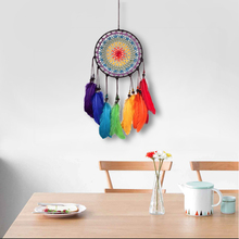 Handmade Dream Catcher Feather Colorful Living Room Garden Hanging Pendant Home Car Decor Ornament