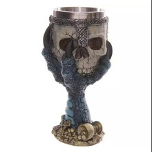Promotion! Creative Resin Craft Skull Stainless Steel Liner Mug 3D Talon Skeleton Cup Personalized Gifts