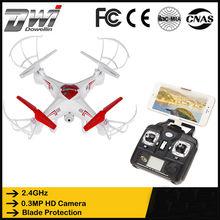 DWI X6 2.4 Ghz 4CH WiFi RC Quadcopter Téléphone Fpv Télécommande Drone avec Caméra 0.3MP Extérieure en temps Réel vidéo Hélicoptère Toys