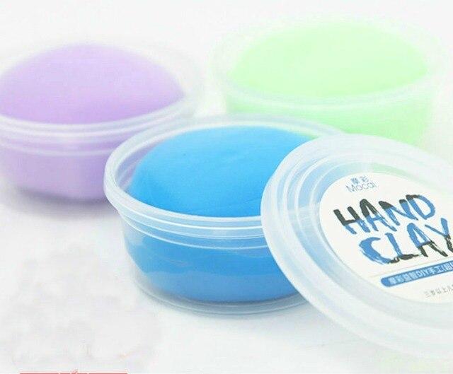 24 Farben Air Dry Farbige Ton Play Teig Knetmasse Baby Handabdruck
