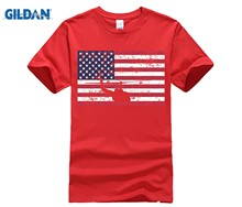 48d3050fa3c GILDAN Bell UH-1 Huey Patriotic USA American Flag T Shirt Cool Funny T-Shirt  Men High Quality Tees Adult 100% Cotton Tees