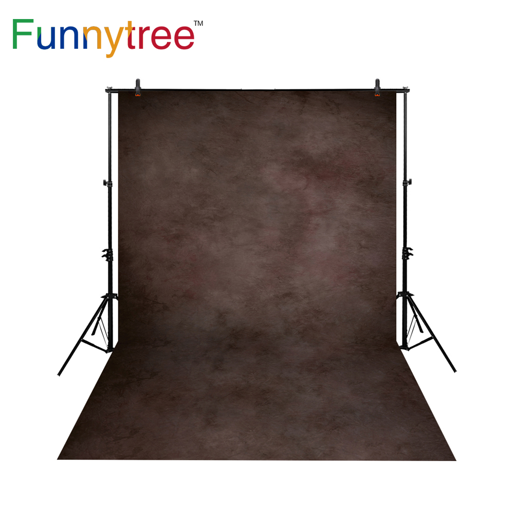 Funnytree thin vinyl cloth photography backdrops dark brown background texture old master photophone newborn photo props MH-044