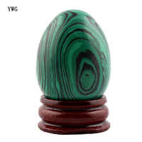 30*40mm Malachite Natural Carnelian Stone Carved Crafts Eggs With Wood Stand Decoration Chakra Healing Reiki Beads Free Pouch
