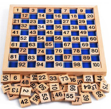 Fine Wooden Montessori math education materials hundred 100 number board toy children kids toddler early preschool learning