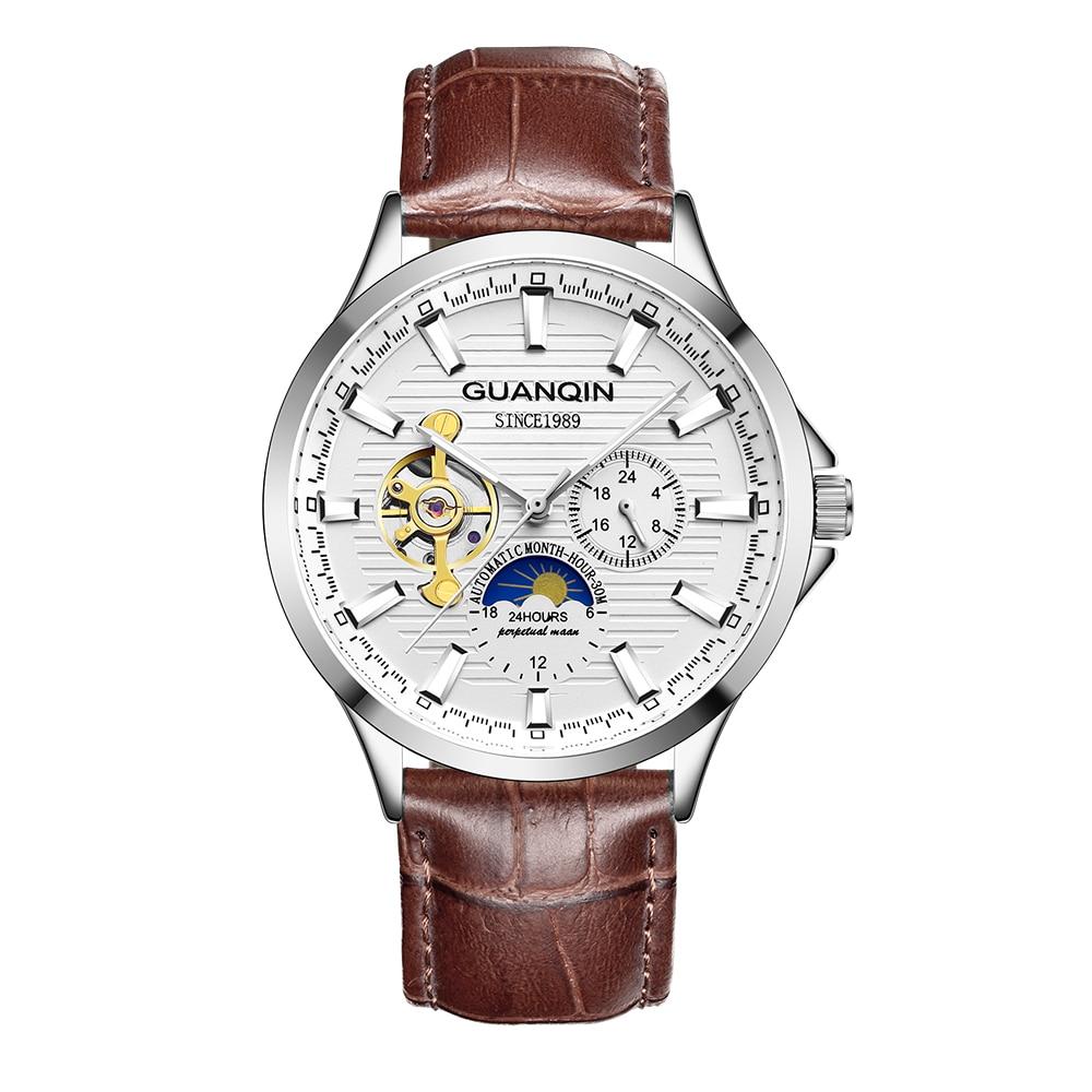 HTB17.YPKhSYBuNjSsphq6zGvVXaP GUANQIN 2019 new watch men waterproof Automatic Luminous men watches top brand luxury skeleton clock men leather erkek kol saati