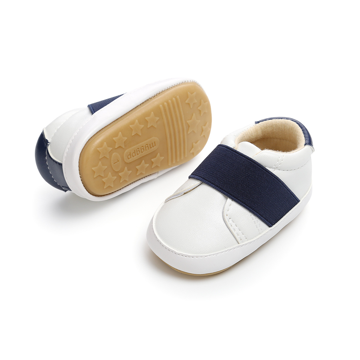 ROMIRUS Big Elastic Band Baby Shoes Unisex Casual Sneakers Toddler Shoes Rubber Soled Non-slip Comfortable
