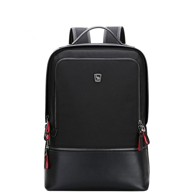 Oiwas Adjustable Men Women Nylon Backpack Casual Solid Color Business Bag Travel School Notebook Bag Black Best Gift цена 2017