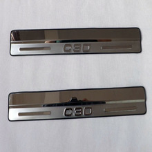 Volvo C30  Car trim door sill scuff plates stainless steel strip c30 welcome pedal 2pcs/set