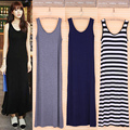 2017 Fashion Summer Dress Brand New Sleeveless Maxi Dress Sexy Black Women Dresses Vintage Vestidos Plus Size Women Clothing XXL