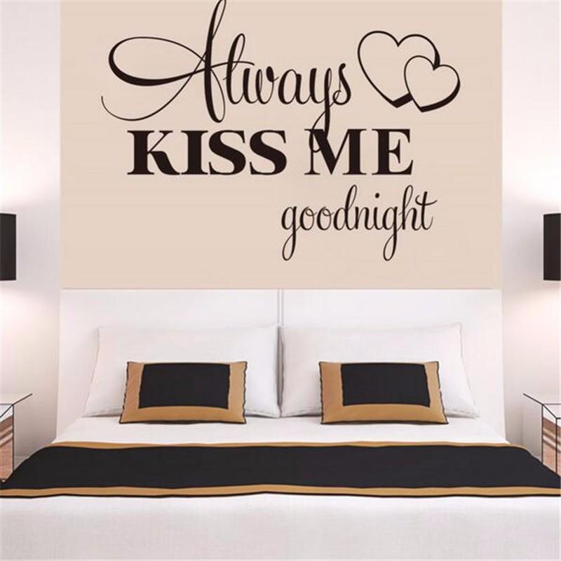 HTB17.YkLpXXXXXTXXXXq6xXFXXXr - Romantic Mural Kiss Me Goodnight Love Vinyl Wall Sticker For Bedroom