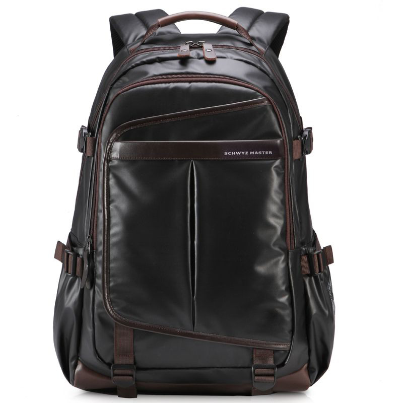 Image 2 - Waterproof Laptop Backpack High Grade Men's Multifunction Business Waterproof Travel Bag Synthetic Leather Computer Packsack-in Backpacks from Luggage & Bags