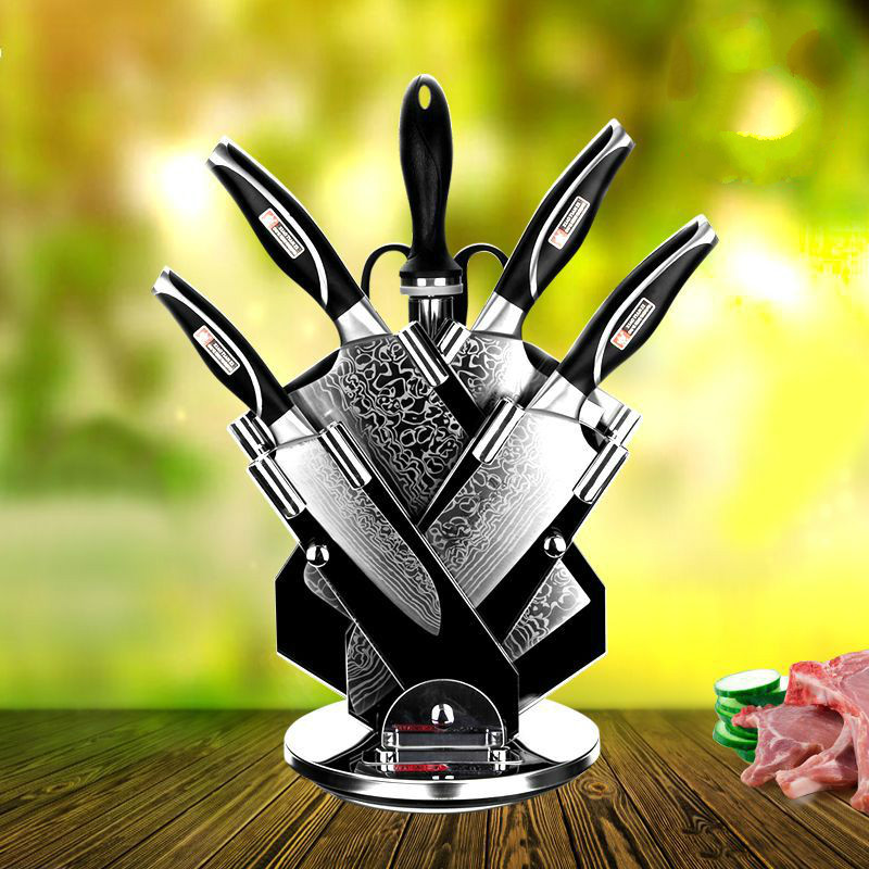 7PCS/SET Damascus Steel Knife Set Household Forged Pattern Kitchen Tool Set ZP01041151