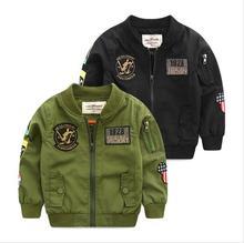 Printemps Automne Vestes pour Garçon Manteau Bomber Veste Armée Vert de Garçon Coupe-Vent D'hiver Veste Mickey Imprimer Enfants Enfants Veste