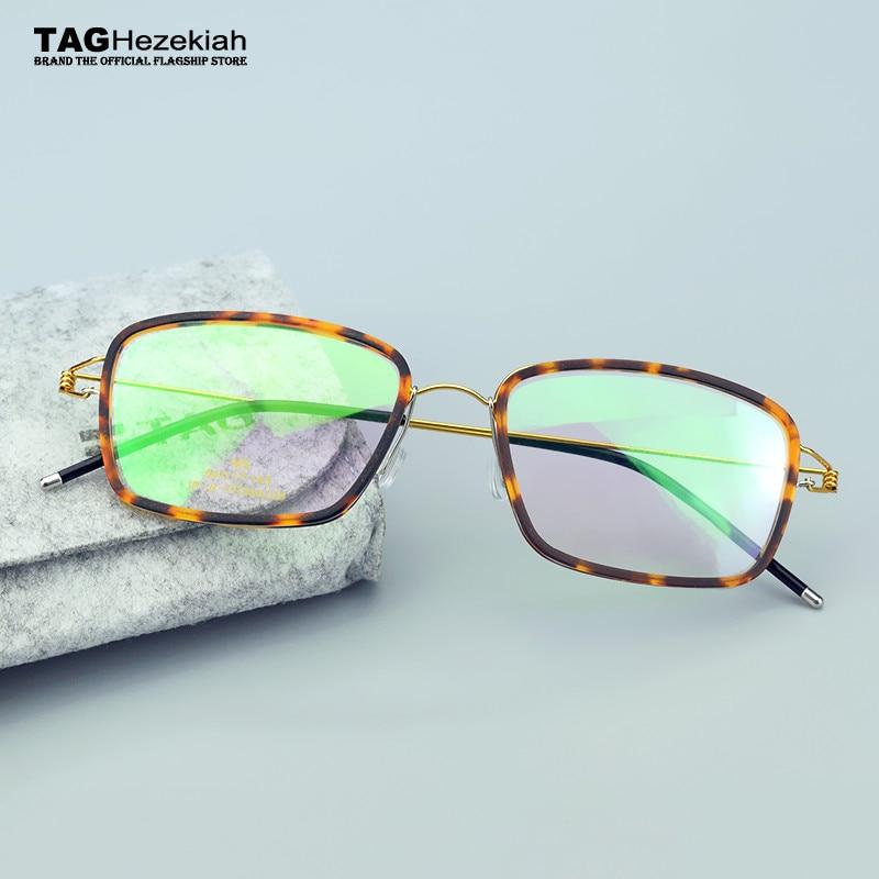b65437ca76f61 2017 spectacles retro TAG Brand titanium glasses frame men women Myopia prescription  eyeglasses transparent glasses computer
