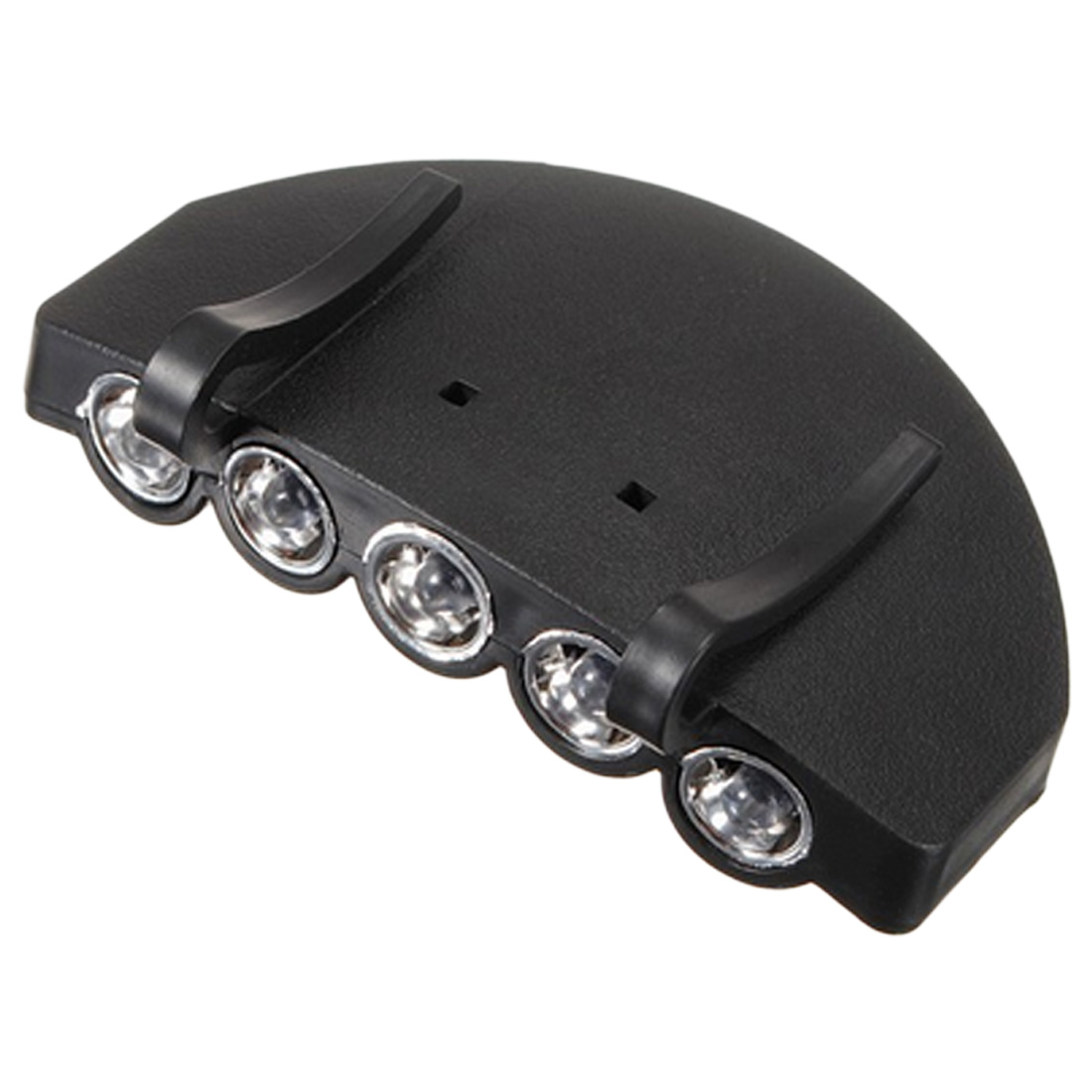New Outdoor Travel Night Safe And Convenient Headlamps Clip-On 5-LED Head Lights Hands-free Cap Hat Clip Lamp Flash / Steady ON