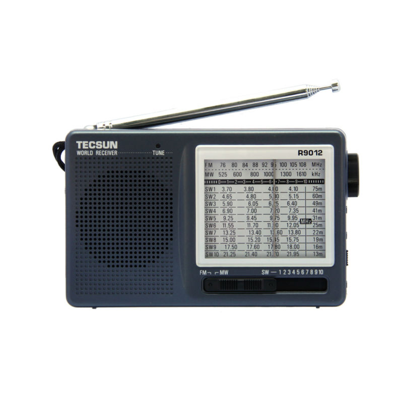 Gratis forsendelse TECSUN R-9012 FM / AM / SW 12 Bands Portable Radio Receiver