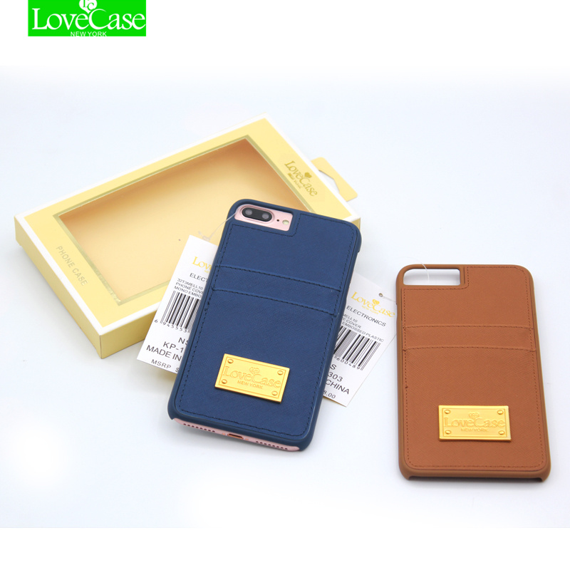 Back Cover Case for iPhone 6 6s 4.7 Case for iPhone 6 plus 6s plus 5.5 PU Leather Card Slot Luxury Phone Case Metal LOGO cases