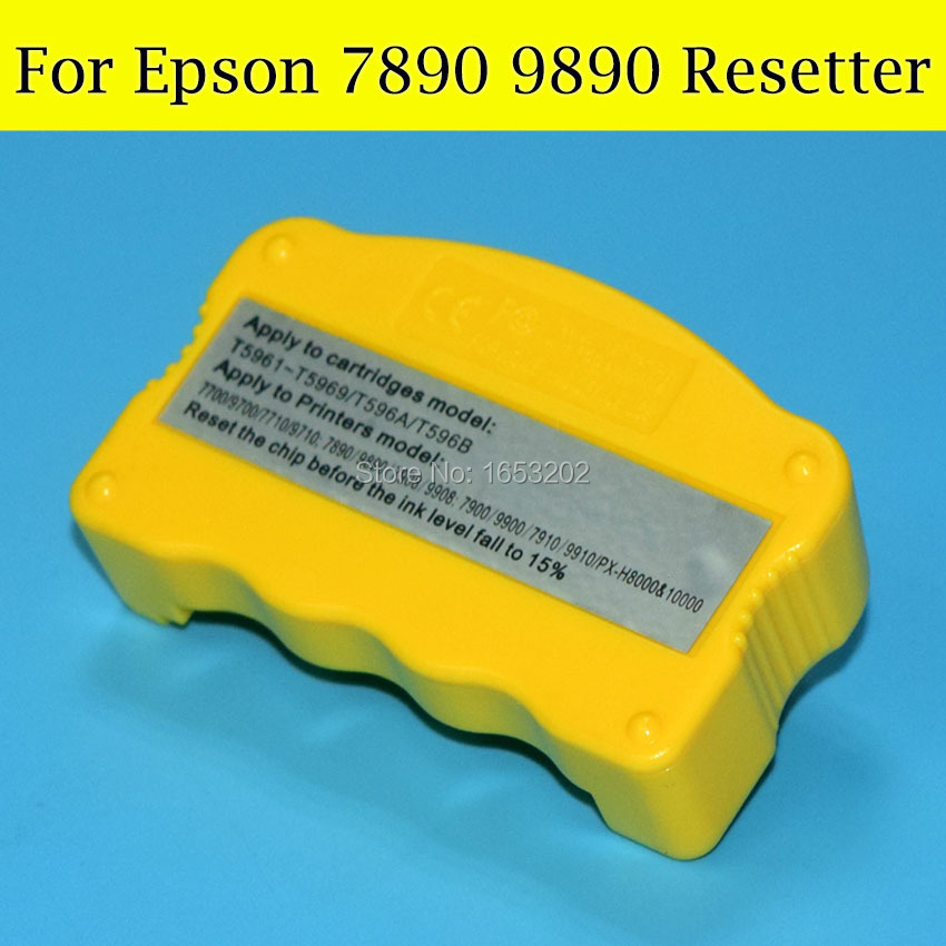 1 Piece Cartridge Chip Resetter For Epson 7890 9890 Printer cs dx18 universal chip resetter for samsung for xerox for sharp toner cartridge chip and drum chip no software limitation