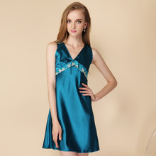 Womens Luxury Silk  Babydoll Sexy Lingerie Sleepwear Slip Chemise Lace Nightgowns