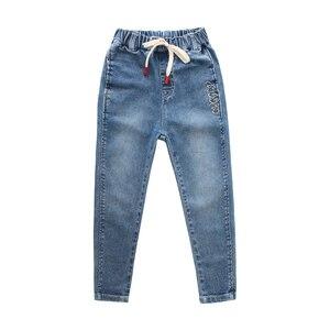 Image 2 - กางเกงยีนส์เด็กสบายๆฤดูใบไม้ผลิฤดูใบไม้ร่วงกางเกงยีนส์เด็กแฟชั่นวัยรุ่นกางเกงยีนส์อายุ 4 5 6 7 8 9 10 11 12 13 14 16 ปีเด็กเสื้อผ้าเด็ก