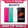 """Разблокирована Оригинальный Sony Xperia ZR M36h Android четырехъядерный процессор 8 ГБ GSM, WIFI, GPS 4.6 """"13.1MP мобильный телефон Sony M36h C5503 Восстановленное"""