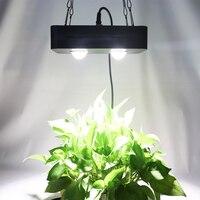 Mazorca Led crece la luz, 100W planta crece espectro completo de luz para invernadero hidropónico planta interior crecimiento ventilador y lente de vidrio