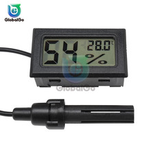 Indoor LCD Electronic Temperature Sensor Humidity Meter Gauge Instruments Cable Mini Digital Thermometer Hygrometer Outdoor