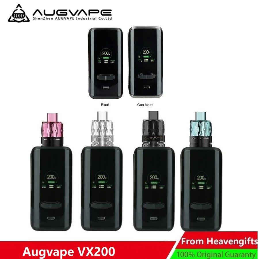 Nouveau Original 200 W AUGVAPE VX200 TC boîte MOD W/200 W sortie Max & 1.3 pouces grand écran couleur e-cig Vape Mod VS glisser 2/Luxe