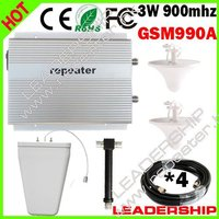 Wholesale GSM repeater GSM990A 900MHz 2W big power GSM mobile phone signal booster signal repeaters ceiling antenna LPDA antenna