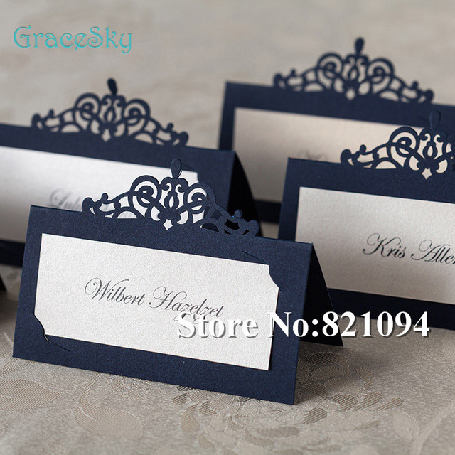 50pcs lot multiple 20 colors Laser Cutting Elegant Crown Paper Place Name Seat Wedding Card for_640x640 aliexpress com buy 50pcs lot multiple 20 colors laser cutting,Laser Cut Party Invitations