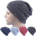 Women Winter Skull Men Knit Beanie Reversible Baggy Cap Warm Unisex Hip-hop Hat