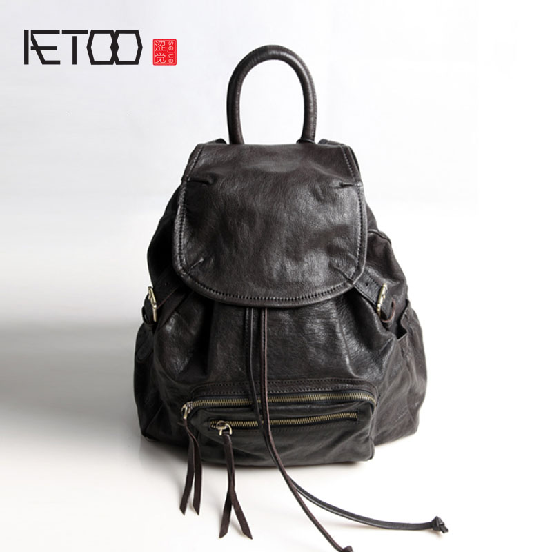 AETOO Pure leather Europe and the United States Japan and South Korea street fashion retro retro bag Sen Department of Travel In japan and south korea in 2016 the new evening bag luxury sequins mesh ladies handbags fashion high grade magnetic buckle bag