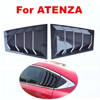 Carbon Fiber Matte Black Car Rear Window Louvers Car Stickers Car cover For Mazda 6 Atenza 2014 TO 2018 Car styling ABS