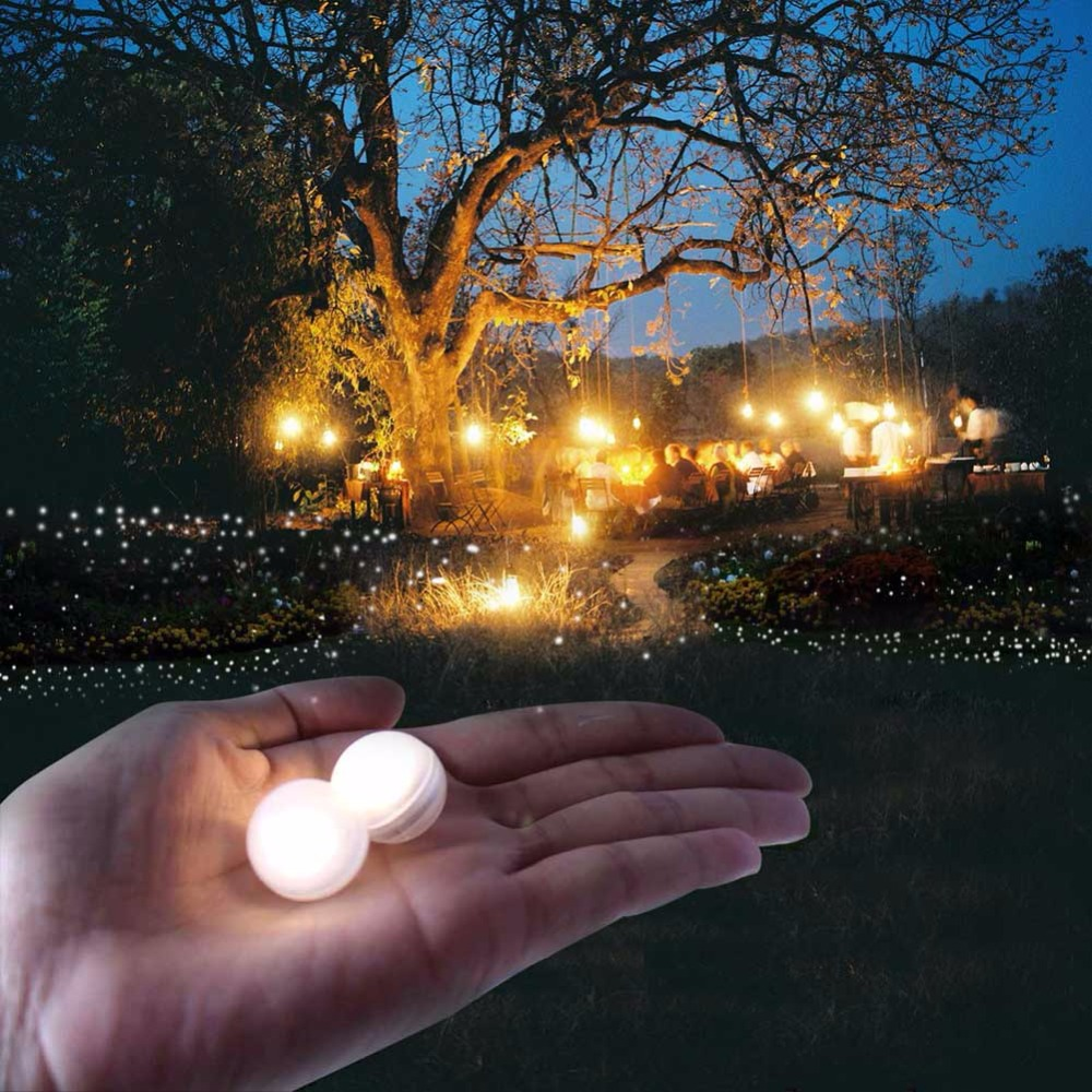50pcs Wedding Favors Waterproof Glowing LED Pearls Lights Floating Dinner Date Lamp Garden Fairy Berry Easter Party Decoration