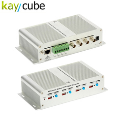 4 Active Channel Power Video Balun Trasmissione 4 Ch Attivo Ricevitore Video Utp Video Balun Hub Twisted Pair BNC Femmina Keycube