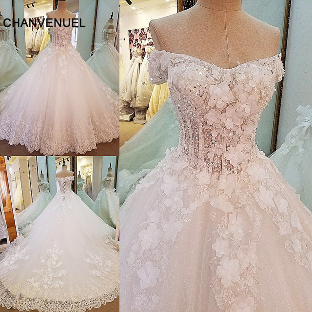 Aliexpress.com : Buy LS0008 gorgeous bridal gown ball gown 3D ...