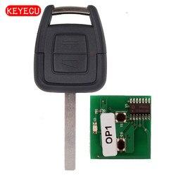 Keyecu zdalny kluczyk 2 przycisk 433MHz ID40 dla Vauxhall Opel Vectra Zafira Omega Vectra Frontera  ostrze HU100